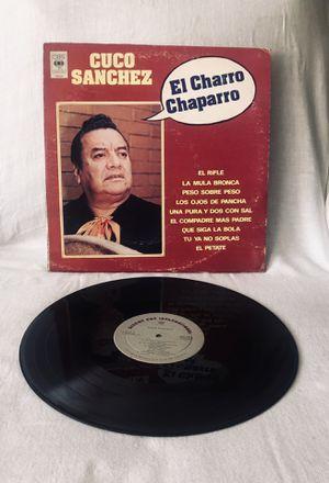 Rare Record! Cuco Sanchez El Charro Chaparro Latin Music Rare Record LP Vinyl. for Sale in El Cajon, CA