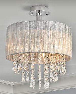 """Chandelier/ new. Size: width 15"""", from the ceiling 18"""". Silver color for Sale in Grapevine, TX"""
