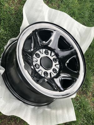 Stock 2019 Silverado 17 inch wheels powder coated black 100 miles on truck and never used after that for Sale in Fresno, CA