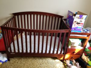 Crib with changing table attached for Sale in Salt Lake City, UT