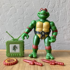 Vintage 1992 Teenage Mutant Ninja Turtles Toon Turtles, Toon Raph Action Figure With 4 Accessory TMNT Collectable Toy for Sale in Elizabethtown, PA