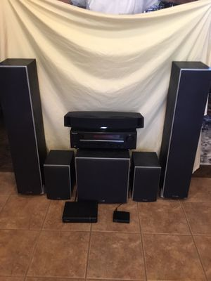 Complete surround sound system. Polk speakers Polk woofer. Bose center speaker. Kenwood receiver. Wireless rear transmitter for Sale in San Tan Valley, AZ