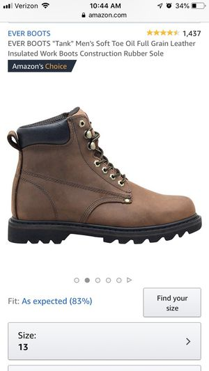 Size 13 Work Boots brand new for Sale in Raleigh, NC