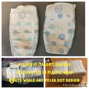 Up&up Target diapers size 3 for Sale in Butler, PA