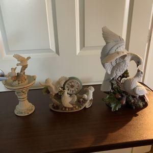 3 Piece Porcelain Swan Set for Sale in South Plainfield, NJ