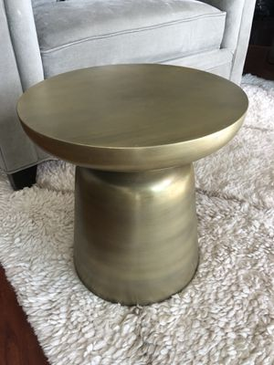 West Elm - Martini Side Table - Gold for Sale in Tampa, FL