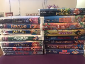 16 SEALED Walt Disney VHS Movies for Sale in Brooklyn, NY