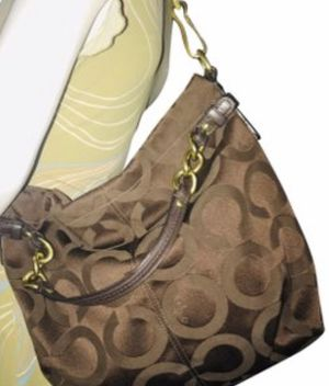Coach 14147 Op Art Signature Jacquard Brown Canvas Hobo Bag for Sale in Winter Springs, FL