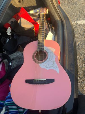 Rogue pink acoustic guitar for Sale in Dublin, CA