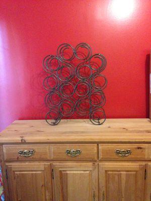 16 Bottle Antique Iron Wine Rack for Sale in Fairfax, VA