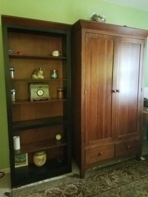 Ethan Allen American Impressions armoire and bookcases for Sale in Virginia Beach, VA