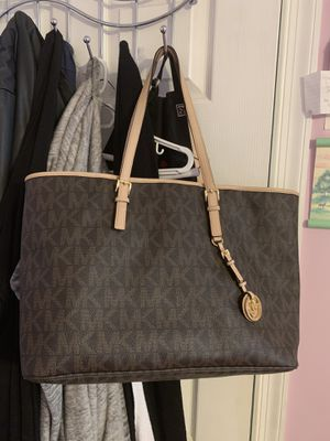 Used Michael Kors Brown Monogram Tote for Sale in UPR MARLBORO, MD