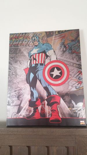 Captain America Canvas wall art for Sale in Jurupa Valley, CA