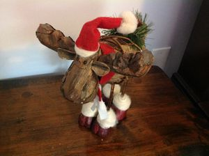 """Holiday decor moose Christmas decoration about 13"""" tall for Sale in Seminole, FL"""