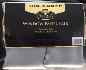 "TWO (2) SETS of GRAY ""BLACKOUT"" ROD~POCKET PANELS ...... 37""(Wide) x 84""(Long) ....... BRAND NEW ....... EACH SET is $20.00 CASH ONLY. for Sale in Lake Worth, FL"