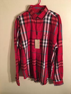 Men's Burberry Check Stretch Cotton Shirt Sz: Xxl for Sale in Greensboro, NC