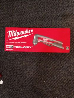 Milwaukee M12 Cordless 3/8 In Right Angle Drill for Sale in Hialeah,  FL