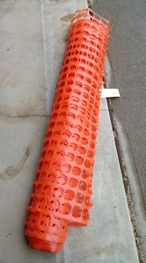 4 foot by 100 foot orange plastic reusable safety fencing for Sale in Strongsville, OH