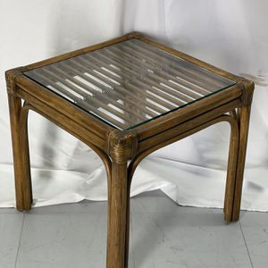 Vintage Rattan Glass Table for Sale in Seattle, WA
