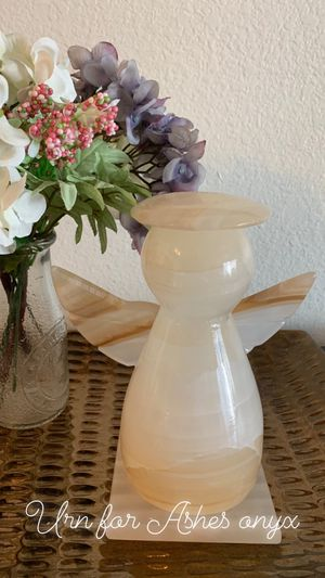 Onyx White Angel Cremation Urn for ashes! for Sale in Chino, CA