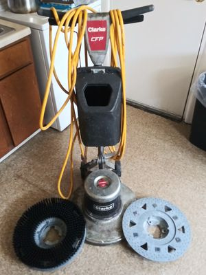 Floor scrubber with tank excellent condition only stains are wax and stripper stains. No exposed wiring or shortages. Price is negotiable. for Sale in Washington, DC