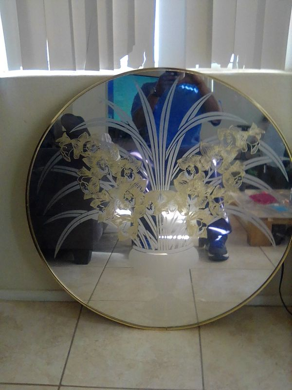 Nice flower Wall mirror
