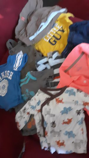 Newborn-9 months baby boy clothes and size 2 diapers for Sale in Detroit, MI
