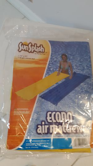 BRAND NEW 72 x 27 yellow air mattress for pool for Sale in Sunrise, FL