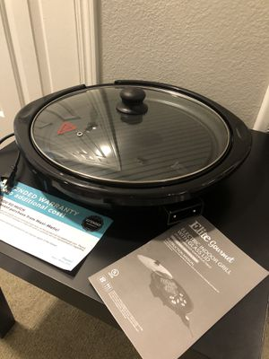 Electric indoor Grill with glass lid for Sale in OR, US