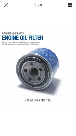 HYUNDAI GENUINE AUTO PARTS OIL FILTER 26300 35503 for Sale in Scottsdale, AZ