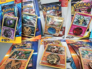 Pokemon trading cards collectors cards with disk card for Sale in North Charleston, SC