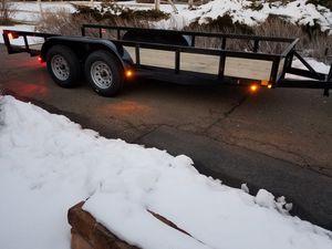 2019 flat bed trailer 16ft long for Sale in Santa Fe, NM