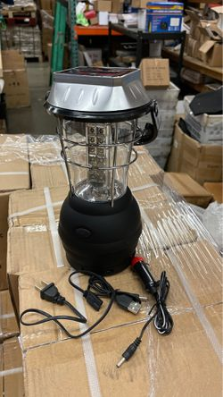 Emergency camping solar LED Lantern light power bank hand crack charging ac or dc charger for Sale in Rowland Heights,  CA
