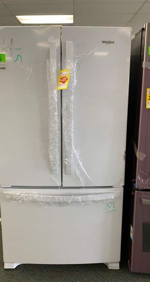 Whirlpool brand new color white!! Refrigerator French door style!! Fridge is new with warranty VGNZR for Sale in Manhattan Beach, CA