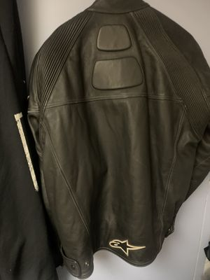 Alpine star leather motorcycle jacket size 48 for Sale in New York, NY