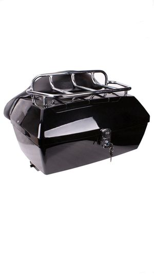 Motorcycle Trunk Luggage Case Tail Box With Backrest For Harley Yamaha Suzuki(Brand New) for Sale in Houston, TX