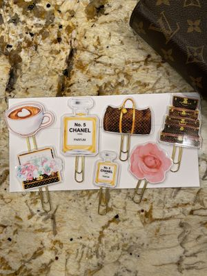 Designer agenda paper clips. 7 total. Lv and Chanel for Sale in GRANT VLKRIA, FL