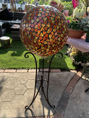 Glass ball with metal stand for Sale in Beverly Hills, CA