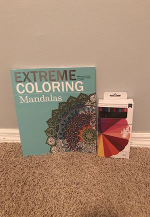 Coloring book and colored pencils for Sale in Maryland Heights, MO