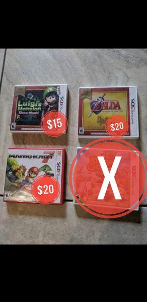 Nintendo 3ds games!!! Mario kart, Zelda, Luigi for Sale in Portland, OR