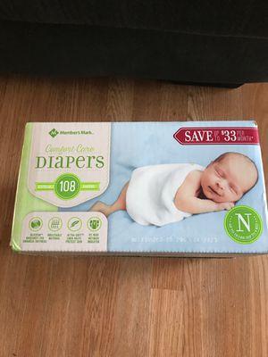 Comfort Care Newborn Diapers for Sale in Phoenix, IL