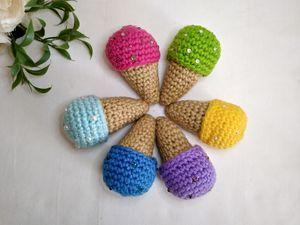 Amigurumi Ice cream Cone. ice cream soft toy. crochet ice cream. Kawaii toy. fake ice cream. for Sale in Riverside, CA