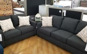 Aleyna Charcoal sofa and loveseat new for Sale in St. Louis, MO