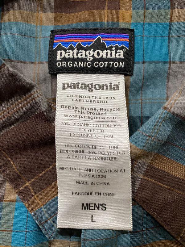 Patagonia Long Sleeve Button Down Organic Cotton Shirt