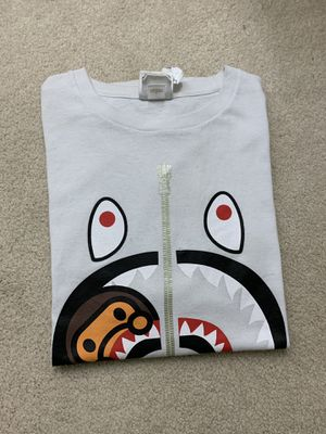Bape baby milo shark tee - size L for Sale in San Diego, CA