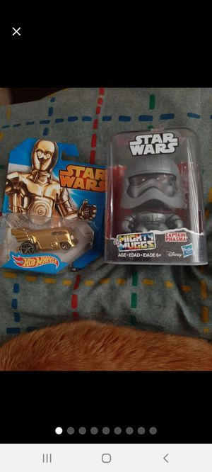Star Wars/Hot Wheels~Mighty Muggs & C3PO for Sale in Williamsport, PA