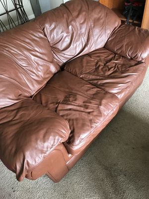 Leather love seat and (FREE) matching sofa for Sale in Columbus, OH