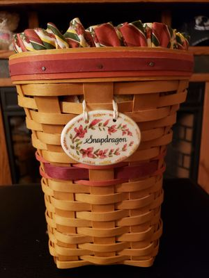 "Longaberger ""Snapdragon"" Basket w/double insert for Sale in Reno, NV"