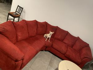 Red sectional couch / sofa for Sale in Henderson, NV