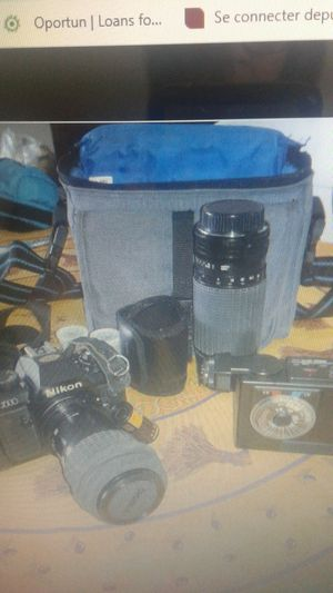 NIKON N2000 With three Prime Lenses , Extension Tubes with Original Handbag for Sale in SUNNY ISL BCH, FL